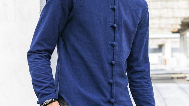 Men Shirt Casual Streetwear Cotton Linen Shirt