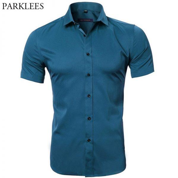 Men's Bamboo Fiber Dress Shirts