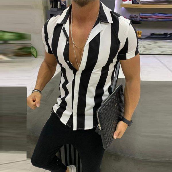 Men Shirts Fashion Printed Shirt